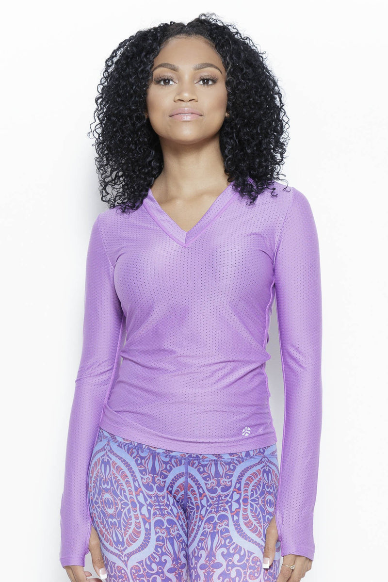 Hollywood Agility LS Top Clothing Just Live M Purple Moisture Wick