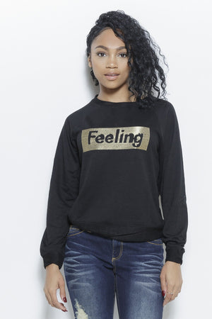 IN MY FEELINGS Sweatshirt Clothing Fair Shade S Black