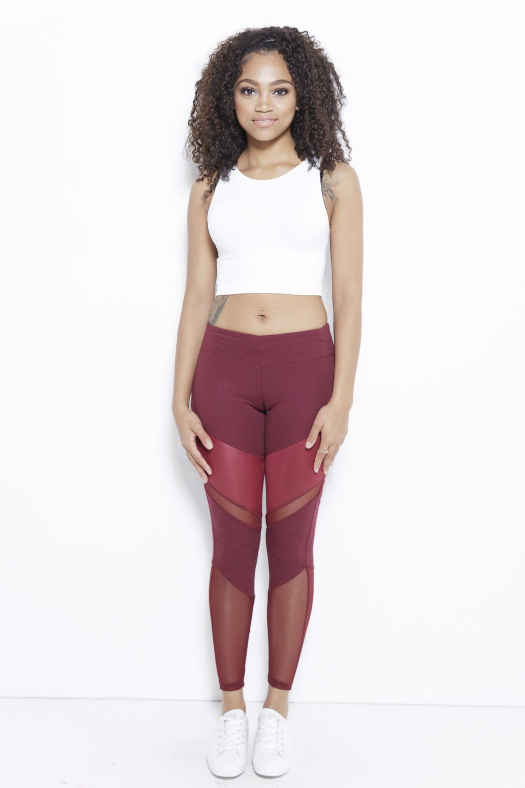 Ivanna Wine Active Leggings Clothing Fair Shade XS Wine 75% Cotton, 12% Rayon, 13% Spandex