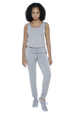 Rochelle Jumpsuit in Grey Clothing Fair Shade S 95%RAYON,5%SPANDEX Grey