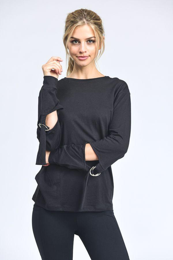 fair-shade - Justeene Top- Black - Clothing