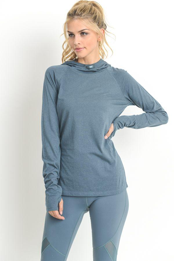 fair-shade - Justify Hoodie Top- Teal - Clothing