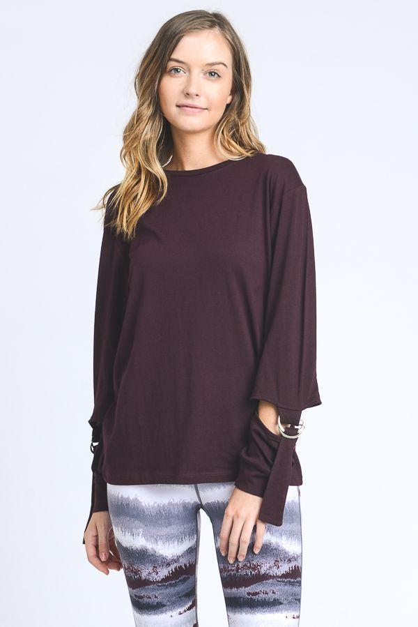fair-shade - Justeene Top- Plum - Clothing