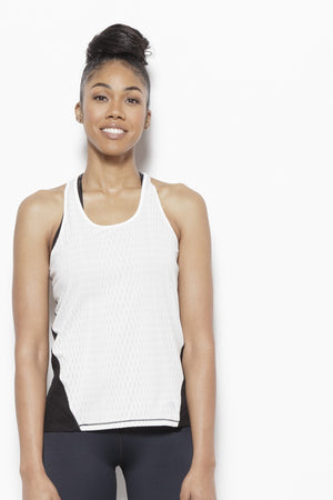 Solar Eclipse Tank Top-White Clothing MPG
