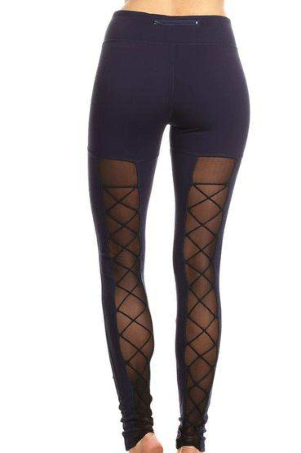Meena Mesh Active Leggings Clothing Fair Shade S Navy 87% Nylon, 13% Spandex