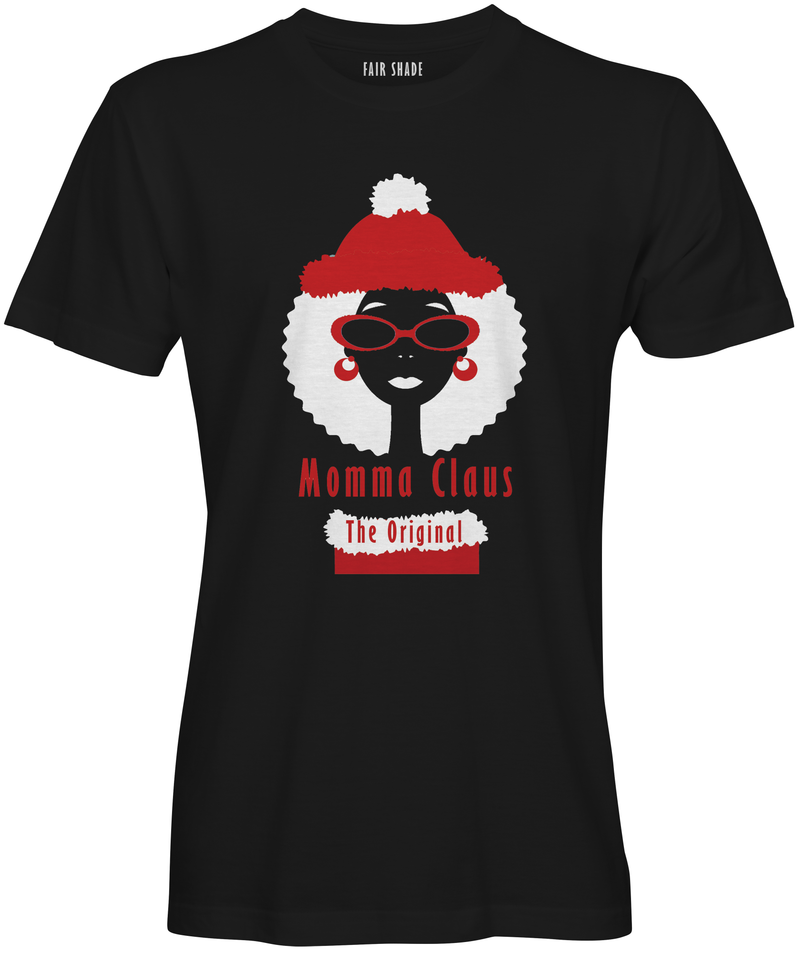 Mrs. Claus... The Original Custom Tshirt Fair Shade S Black