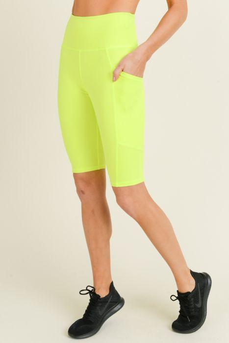 Premise Compression Shorts- Neon Yellow Clothing Fair Shade