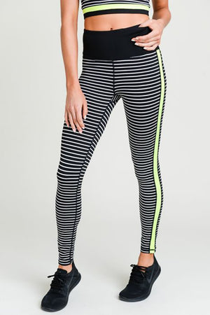 Neon Lights - Active Leggings Clothing Fair Shade small Black 88% Polyester 12% Spandex
