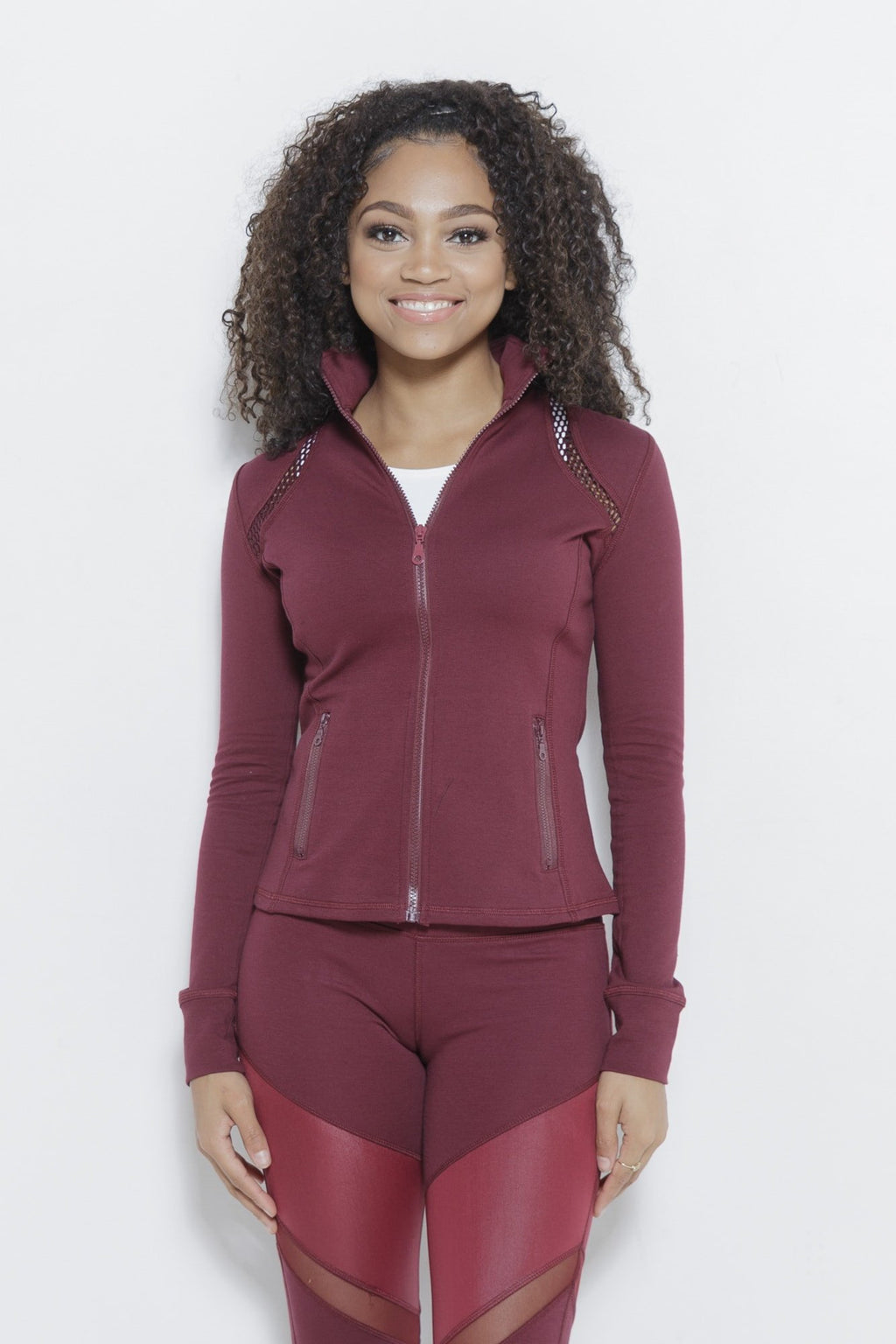 Netty for Sure Sports Jacket Clothing Fair Shade XS Wine 75% Cotton, 12% Rayon, 13% Spandex