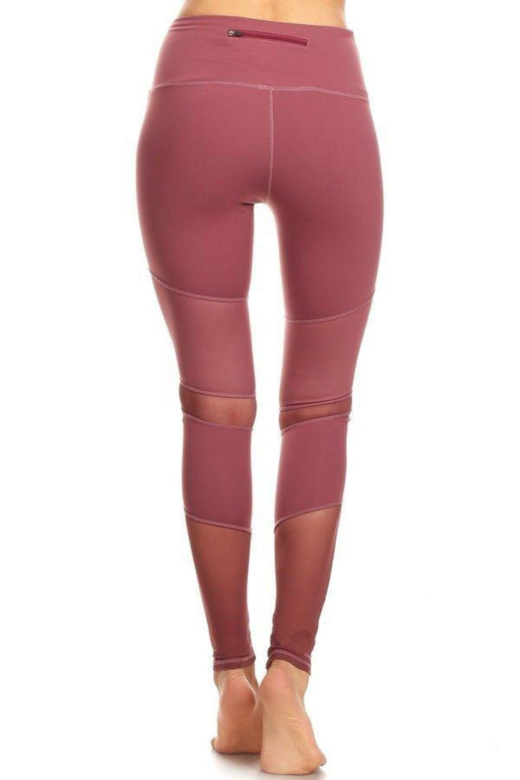 Peru Activewear Mesh Leggings- Mauve Clothing Fair Shade