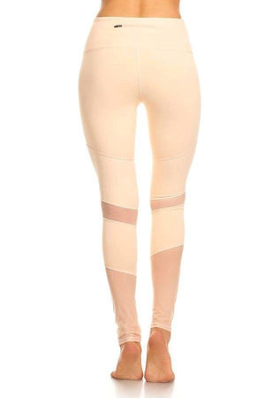 Peru Activewear Mesh Leggings- Peach Clothing Fair Shade