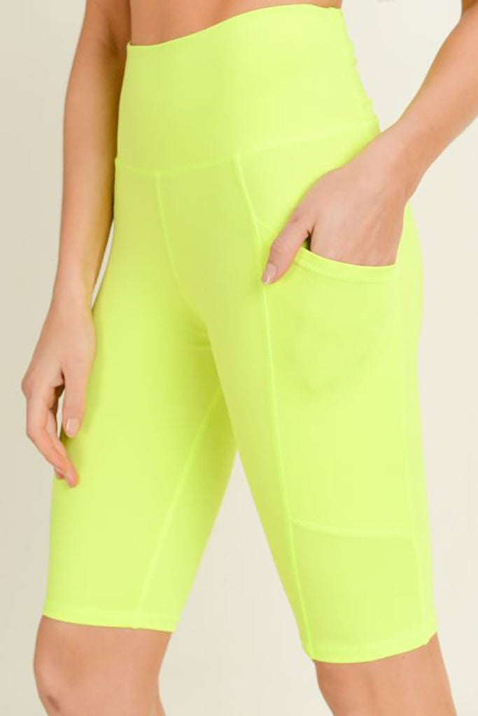 Premise Compression Shorts- Neon Yellow
