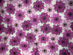 Fun Prints For Kids- Face Masks Fair Shade Child Pink_Purple Flowers