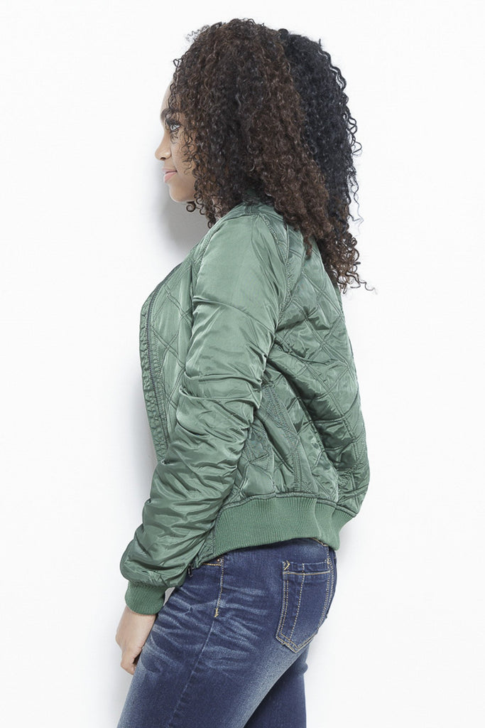Clothing - Quilted with Love- Bomber Jacket - Fair Shade - 3