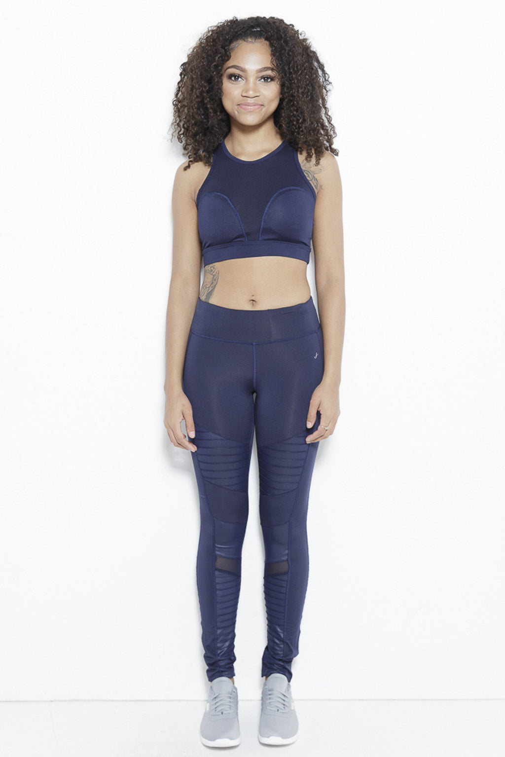 fair-shade - The Ripple Dream Active Leggings-Navy - Clothing