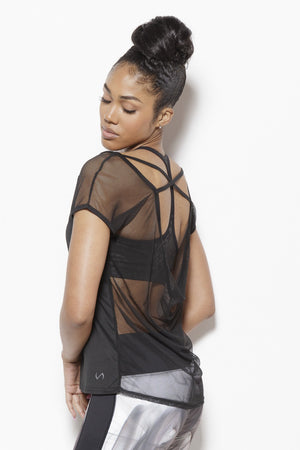 Tomika Activewear Top-Black Clothing TLF