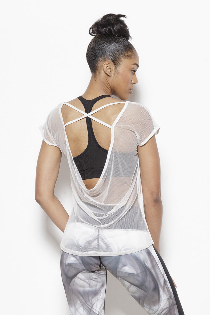 Tomika Activewear Top-Bone