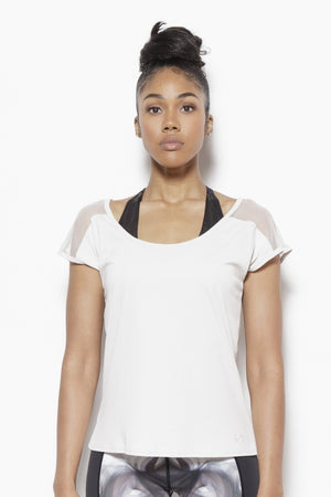 Tomika Activewear Top-Bone Clothing TLF S Polyester, Nylon, Spandex Bone