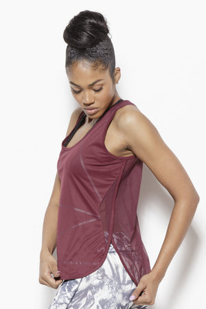 Cross Walk Activewear Tank Top-Wine Clothing TLF S Polyester, Nylon, Spandex Wine
