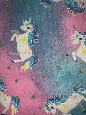 Fun Prints For Kids- Face Masks Fair Shade Child Unicorns