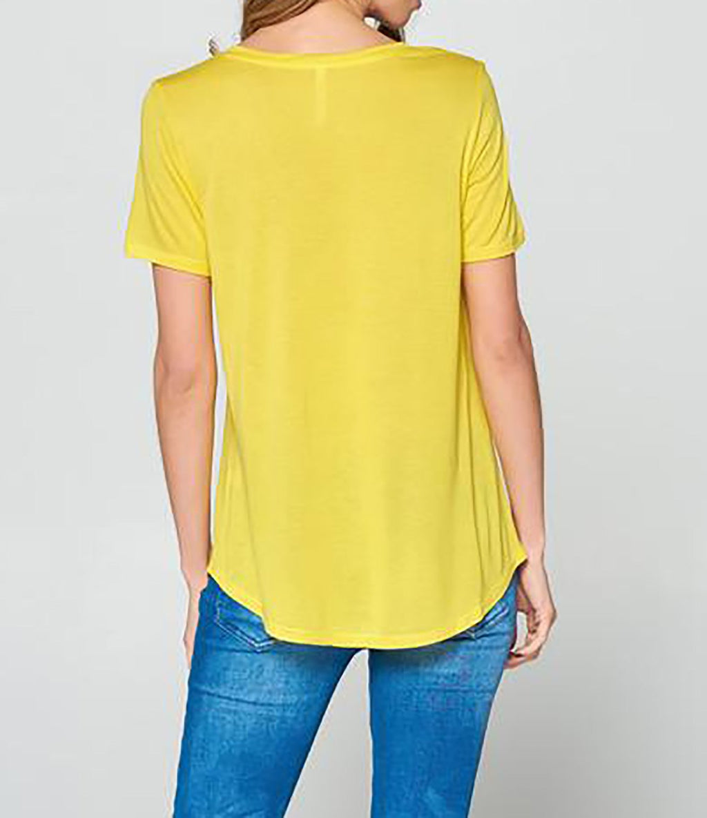 Velocity Boyfriend Tee_ Bright Yellow Clothing Fair Shade LLC