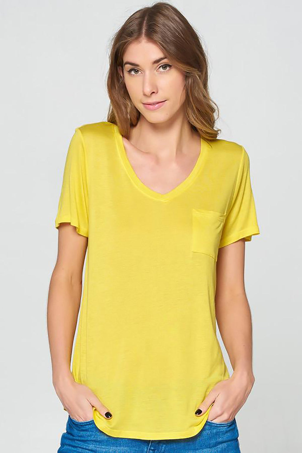 Velocity Boyfriend Tee_ Bright Yellow Clothing Fair Shade LLC SMALL Bright Yellow