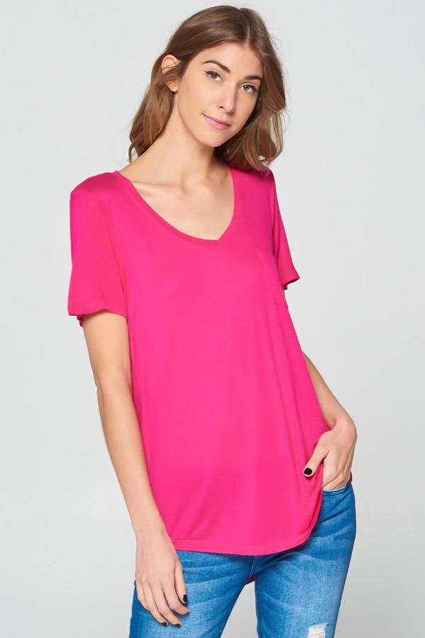 fair-shade - Velocity Boyfriend Tee_ Dark Fuchsia - Clothing