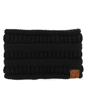 Ponytail Winter Headbands CC Brand Black