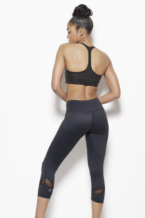 Black Magic -Performance Capris Clothing Just Live S Black Moisture Wick