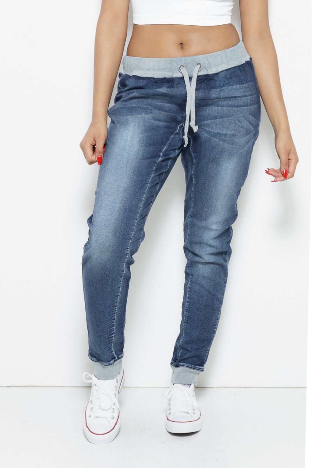 Jeanie Jogger Denim Jeans Clothing Poetic Justice