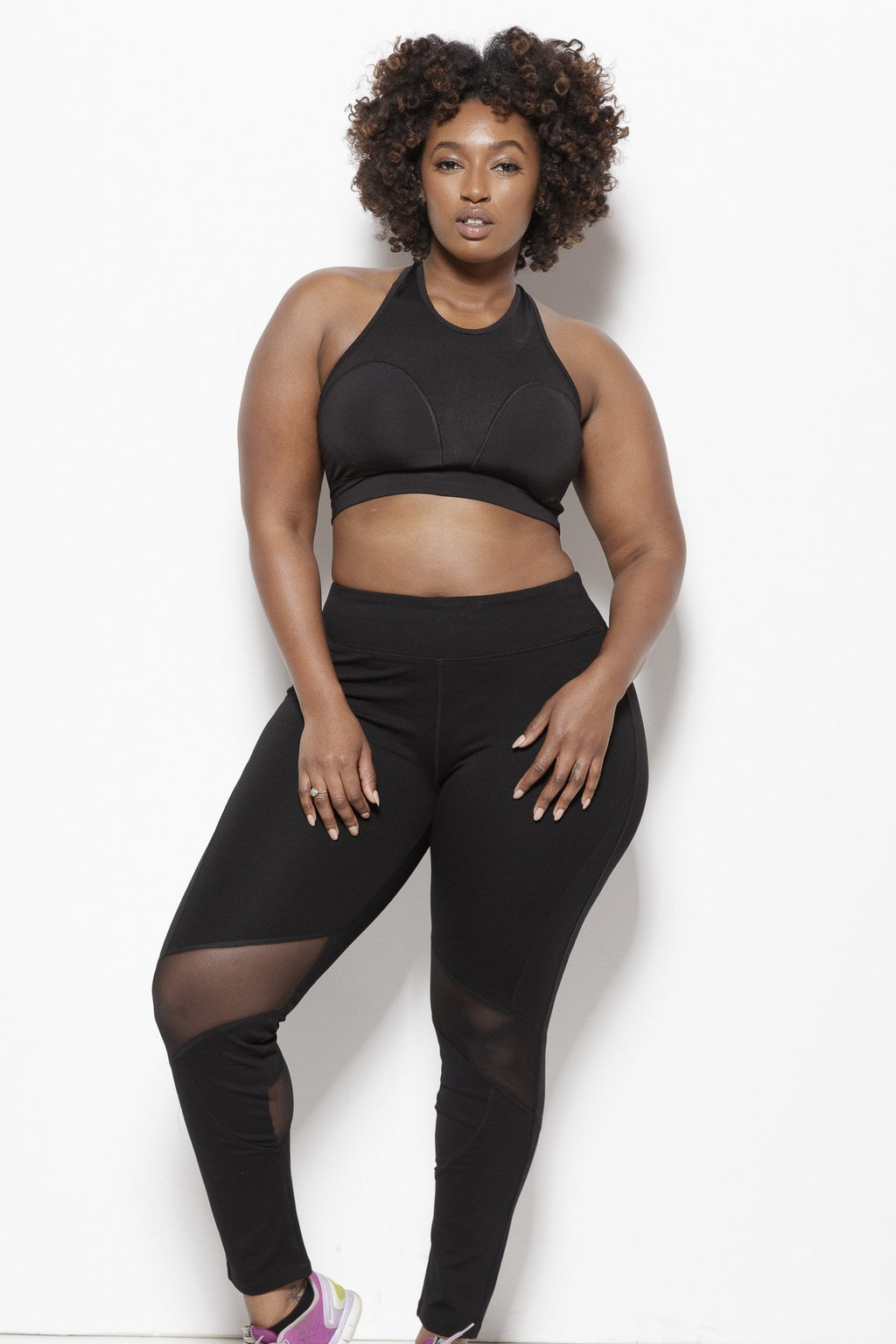 Demi Performance Leggings - Plus Clothing Fair Shade