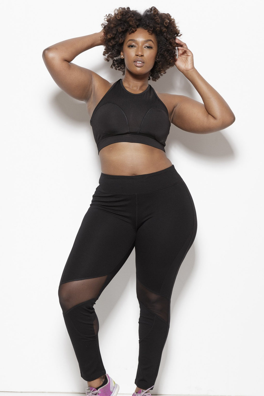 Demi Performance Leggings - Plus Clothing Fair Shade 1X Black