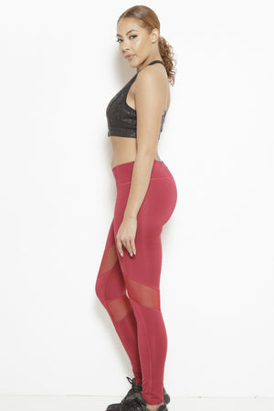 fair-shade - Dream In Code Active Leggings- Bright Red - Clothing