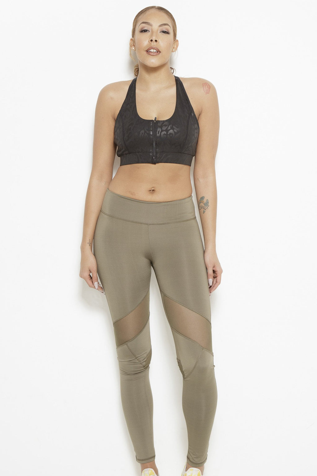 fair-shade - Dream In Code Active Leggings- Olive Green - Clothing