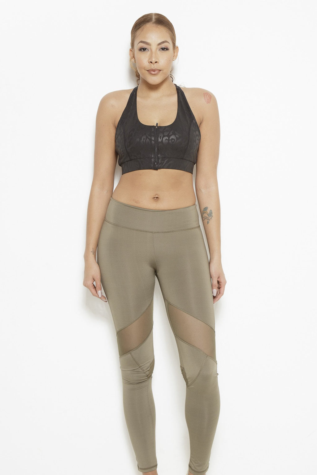 Dream In Code Active Leggings- Olive Green Clothing Fair Shade