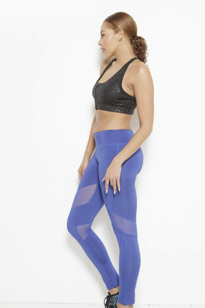 Clothing - Dream In Code Active Leggings- Royal Blue - Fair Shade - 2