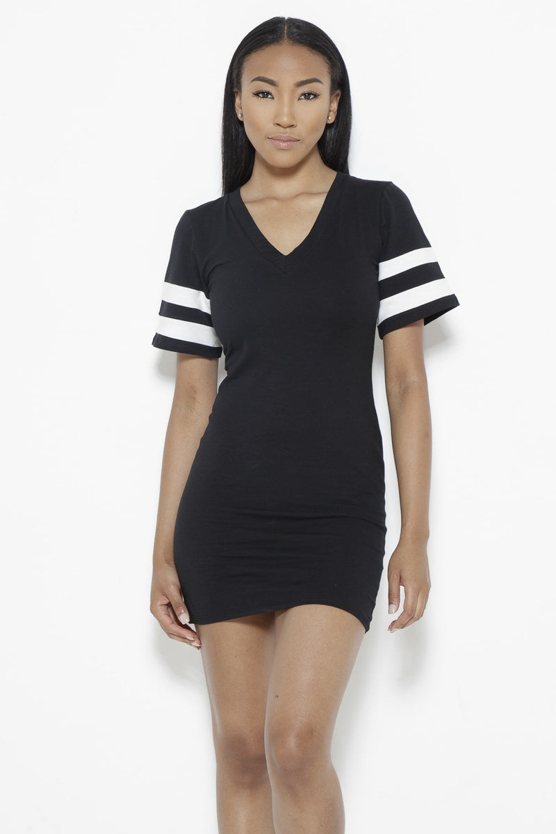 Instant Replay Dress-Black Clothing Fair Shade