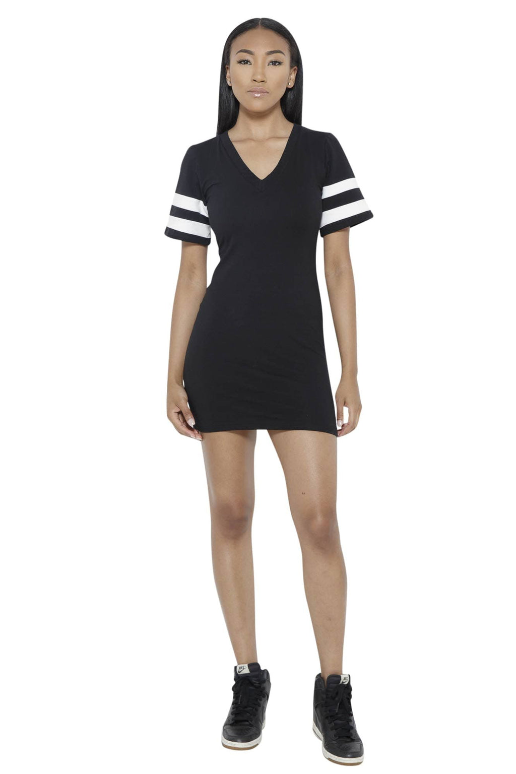 Instant Replay Dress-Black Clothing Fair Shade S 94% cotton 6% spandex Black