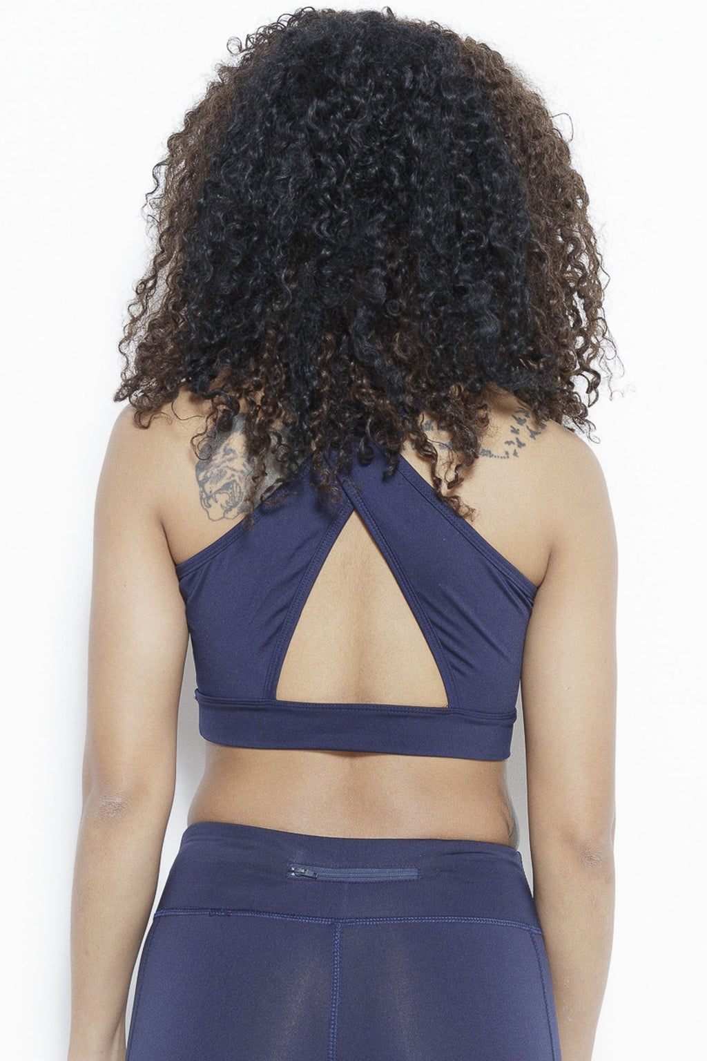 Jazzy Cross Sports Bra-Navy Clothing Fair Shade