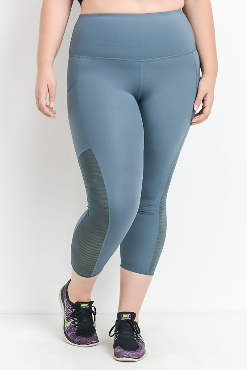 Marsha- Plus Size Performance Capris -Teal Clothing Fair Shade