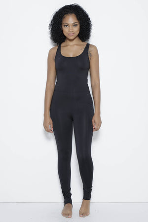 MSFIT Jumpsuit-Black Clothing Fair Shade S Black 87% Polyester- 13% Spandex