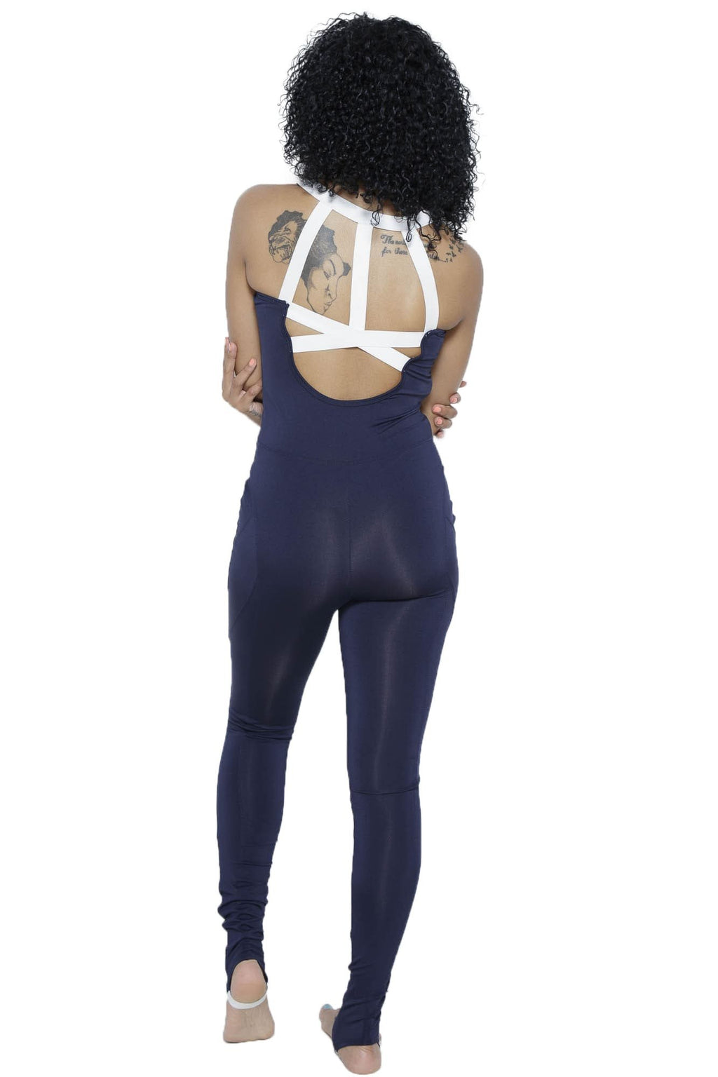 MSFIT Jumpsuit-Navy/White Clothing Fair Shade