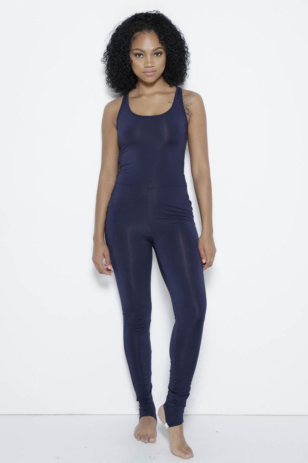 MSFIT Jumpsuit-Navy/White Clothing Fair Shade S Navy/White 87% Polyester- 13% Spandex