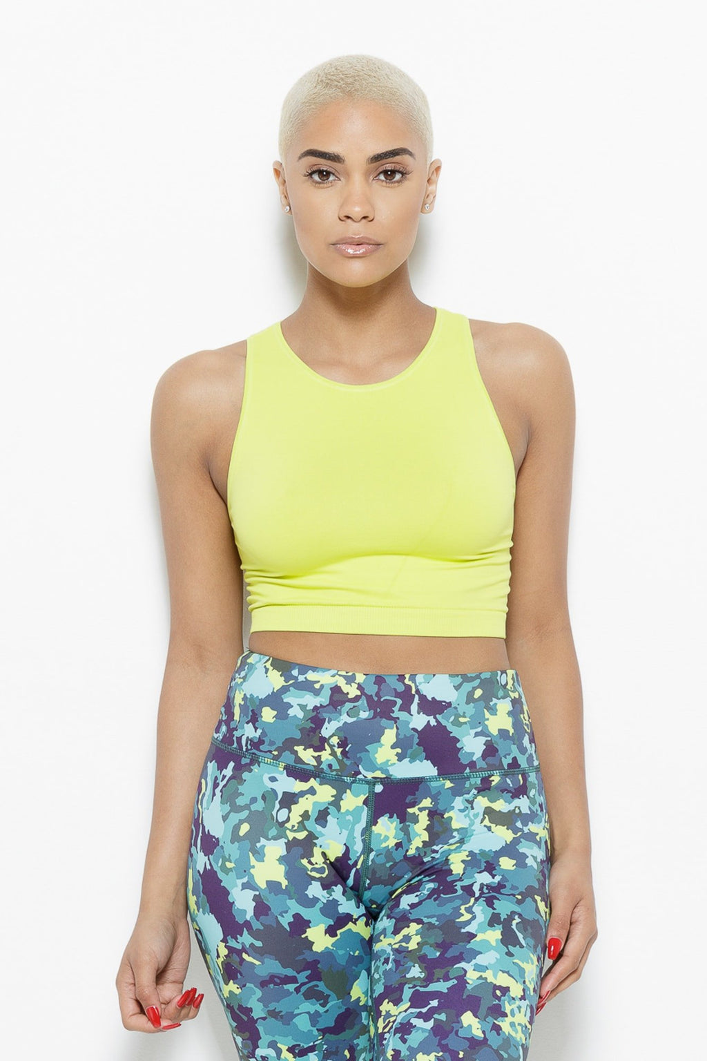 Serenity Crop Top-Chartreuse Clothing Fair Shade SM CHARTREUSE Sorbtek