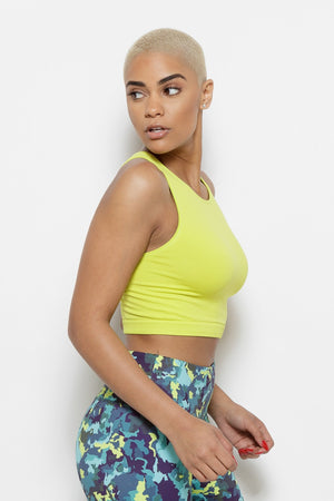 Serenity Crop Top-Chartreuse Clothing Fair Shade