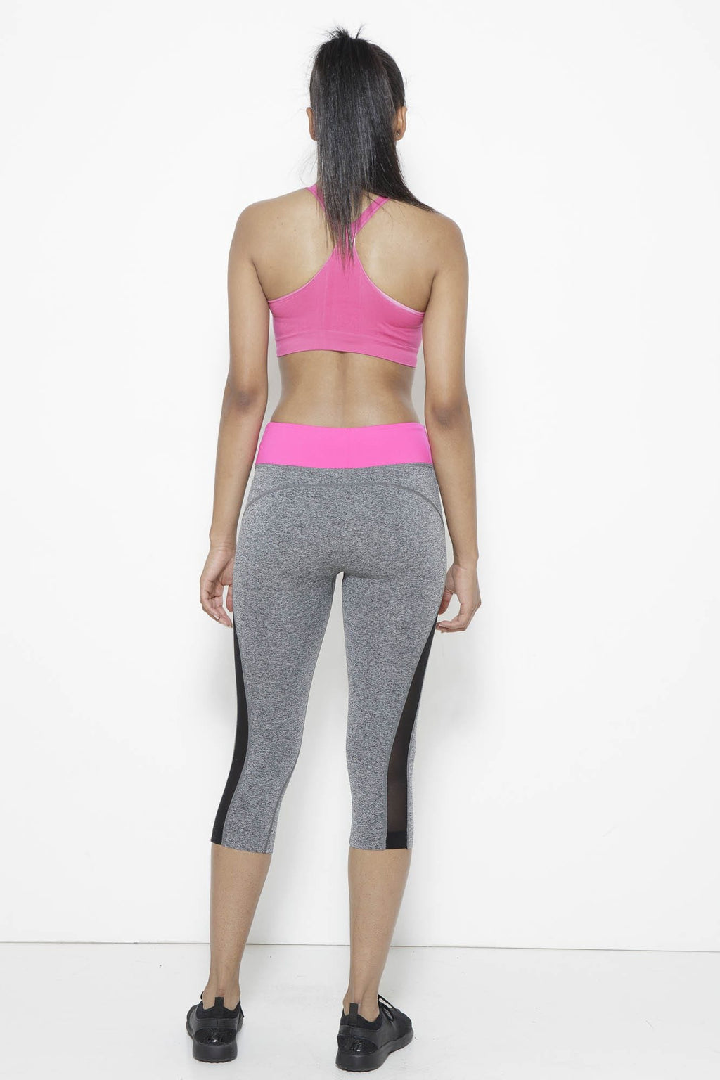Shear Sighted Capris- Fuchsia/Grey Clothing Fair Shade