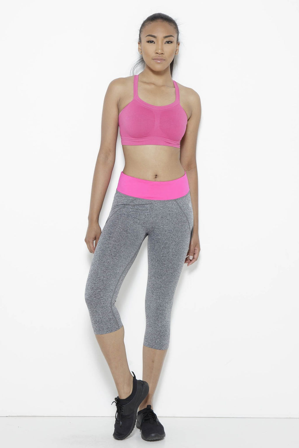 fair-shade - Shear Sighted Capris- Fuchsia/Grey - Clothing