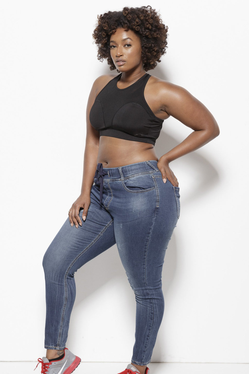Tasha Jogger (Plus)- Denim Jeans Clothing Poetic Justice