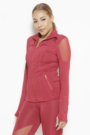 Vibes of Color Sports Jacket- Bright Red Clothing Fair Shade