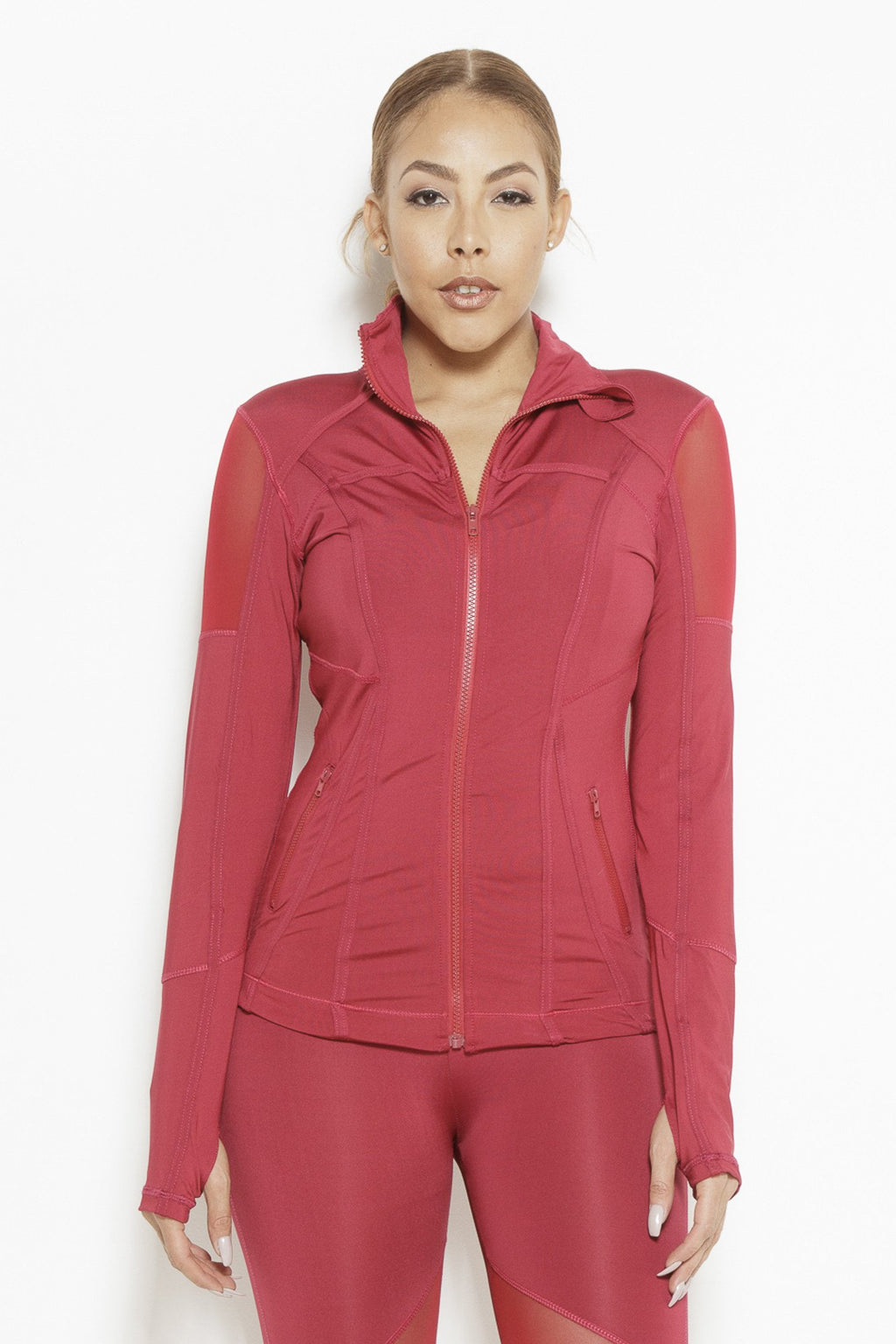 fair-shade - Vibes of Color Sports Jacket- Bright Red - Clothing